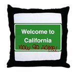 WelcomeToCaliforniaNowGoHome Throw Pillow