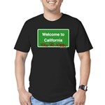 WelcomeToCaliforniaNowGoHome Men's Fitted T-Shirt