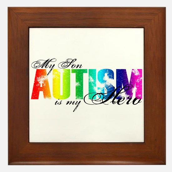 My Son My Hero - Autism Framed Tile