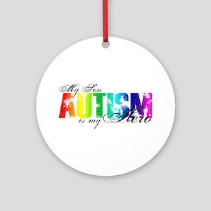 My Son My Hero - Autism Ornament (Round)