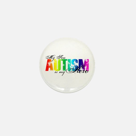 My Son My Hero - Autism Mini Button
