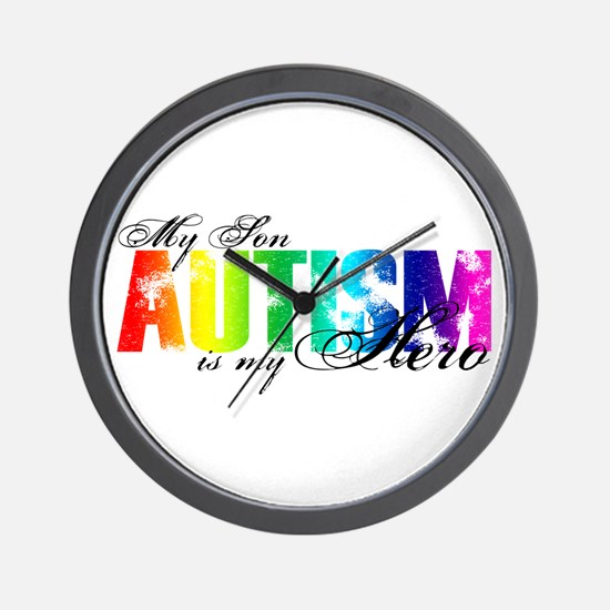 My Son My Hero - Autism Wall Clock