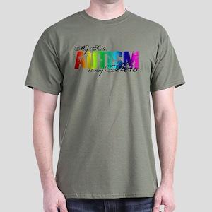 My Sister My Hero - Autism Dark T-Shirt