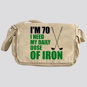 70 Daily Dose Of Iron Messenger Bag