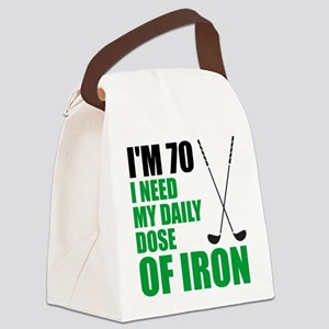 70 Daily Dose Of Iron Canvas Lunch Bag