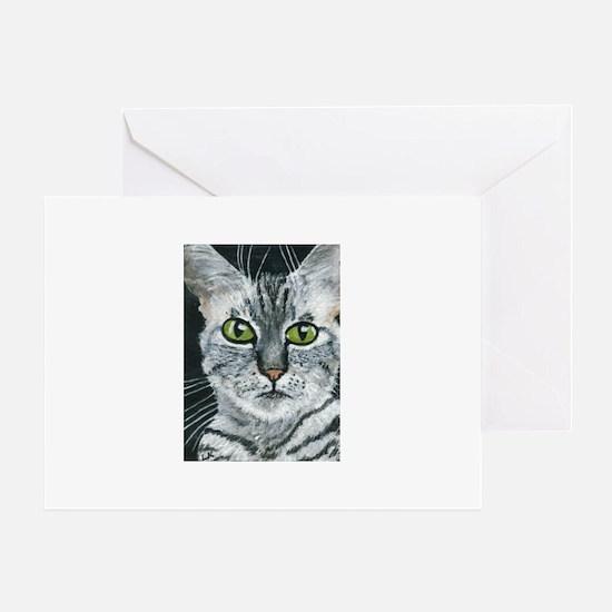 California Spangled Cat Greeting Card