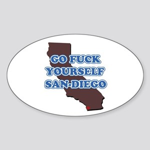 Go fuck yourself, San Diego Sticker (Oval)