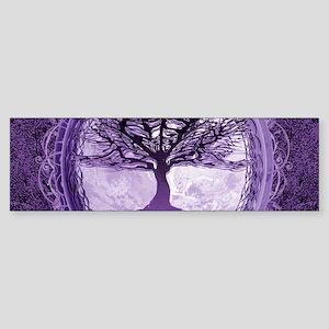 Tree of Life in Purple Bumper Sticker