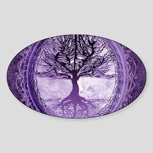 Tree of Life in Purple Sticker