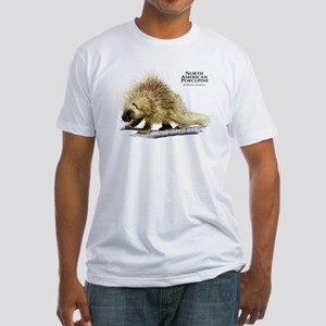 North American Porcupine Fitted T-Shirt