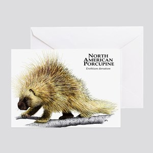 North American Porcupine Greeting Card