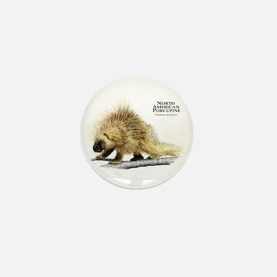 North American Porcupine Mini Button