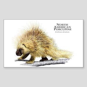 North American Porcupine Sticker (Rectangle)