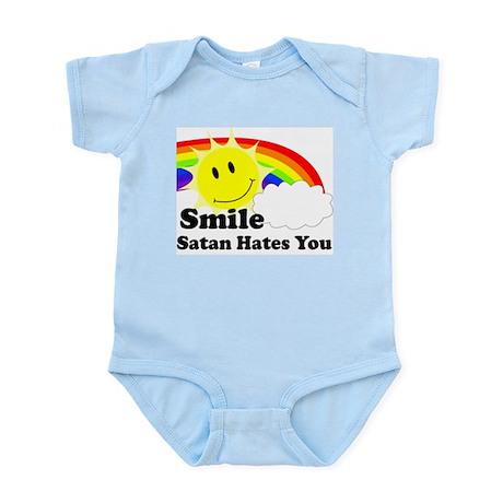 Smile Satan Hates You Infant Bodysuit