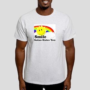 Smile Satan Hates You Light T-Shirt