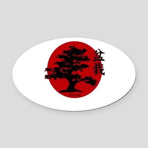 Bonsai Oval Car Magnet
