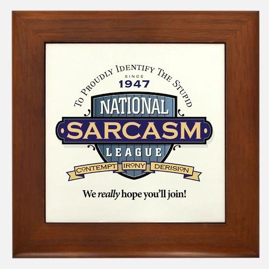 National Sarcasm League Framed Tile