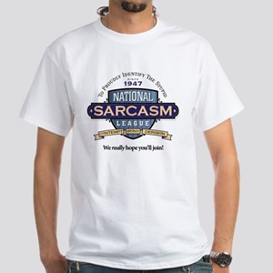National Sarcasm League White T-Shirt