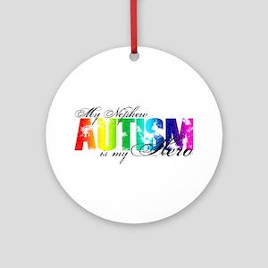 My Nephew My Hero - Autism Ornament (Round)