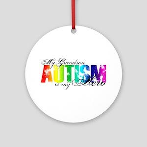 My Grandson My Hero - Autism Ornament (Round)