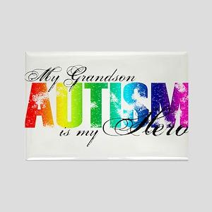 My Grandson My Hero - Autism Rectangle Magnet