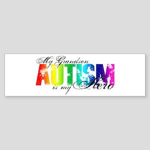 My Grandson My Hero - Autism Sticker (Bumper)