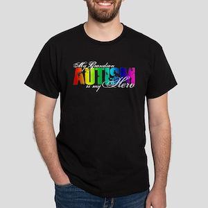 My Grandson My Hero - Autism Dark T-Shirt