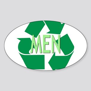 Recycle Men Oval Sticker