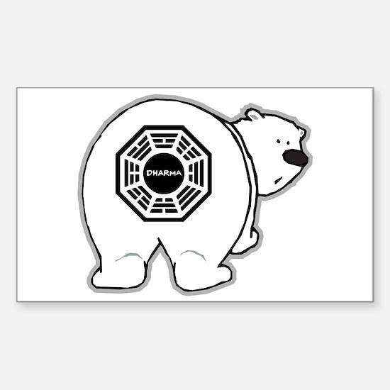 Dharma Bear Sticker (Rectangle)