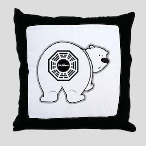 Dharma Bear Throw Pillow