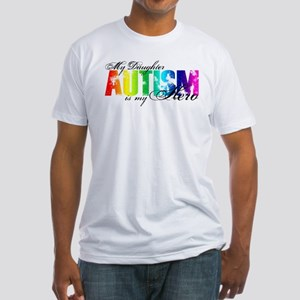My Daughter My Hero - Autism Fitted T-Shirt