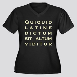 Anything Sounds Profound In L Women's Plus Size V-
