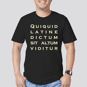 Anything Sounds Profound In L Men's Fitted T-Shirt