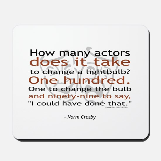 Norm Crosby Actor Joke Mousepad