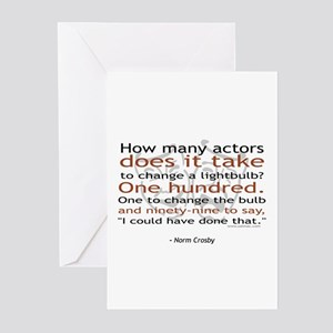 Norm Crosby Actor Joke Greeting Cards (Pk of 10)