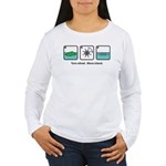 Turn Wheel. Move Island. Women's Long Sleeve T-Shi