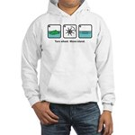 Turn Wheel. Move Island. Hooded Sweatshirt
