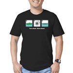 Turn Wheel. Move Island. Men's Fitted T-Shirt (dar