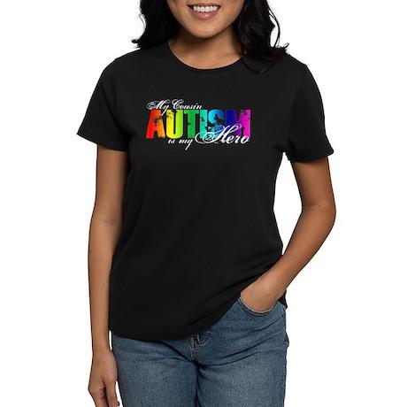 My Cousin My Hero - Autism Women's Dark T-Shirt