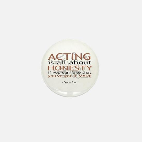 George Burns Acting Quote Mini Button