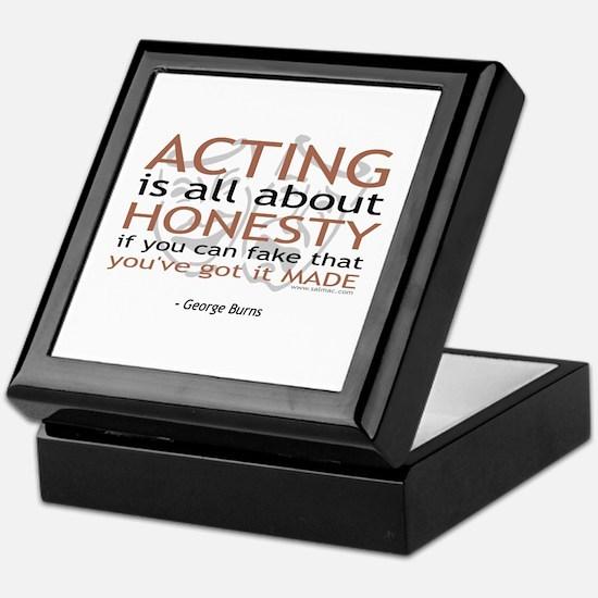George Burns Acting Quote Keepsake Box
