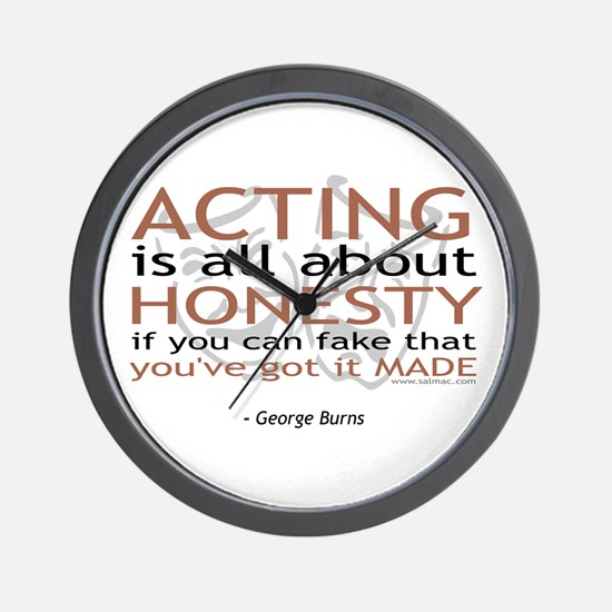 George Burns Acting Quote Wall Clock