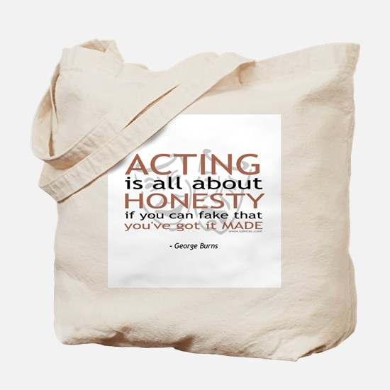 George Burns Acting Quote Tote Bag