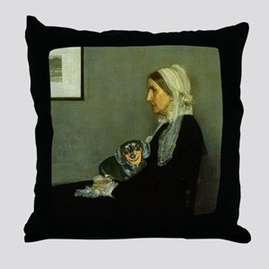 Mother Black Throw Pillow