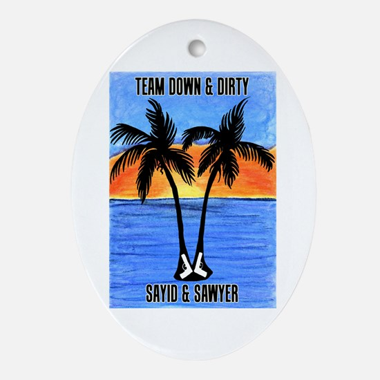 LOST Team Dirty Sayid Sawyer Ornament (Oval)
