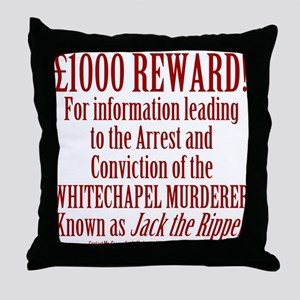 Jack the Ripper Reward Throw Pillow