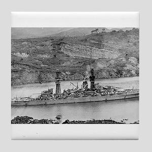 USS Arizona Ship's Image Tile Coaster