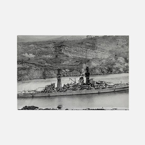 USS Arizona Ship's Image Rectangle Magnet