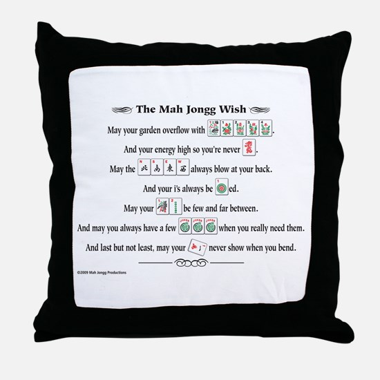 Cute Mah jongg Throw Pillow
