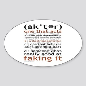 Actor (ak'ter) Meaning Oval Sticker